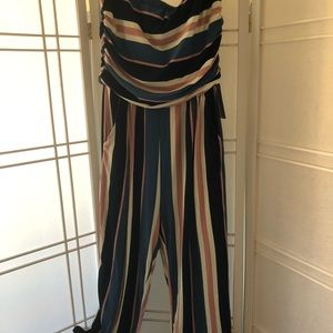 Super soft striped jumpsuit. Size 1X